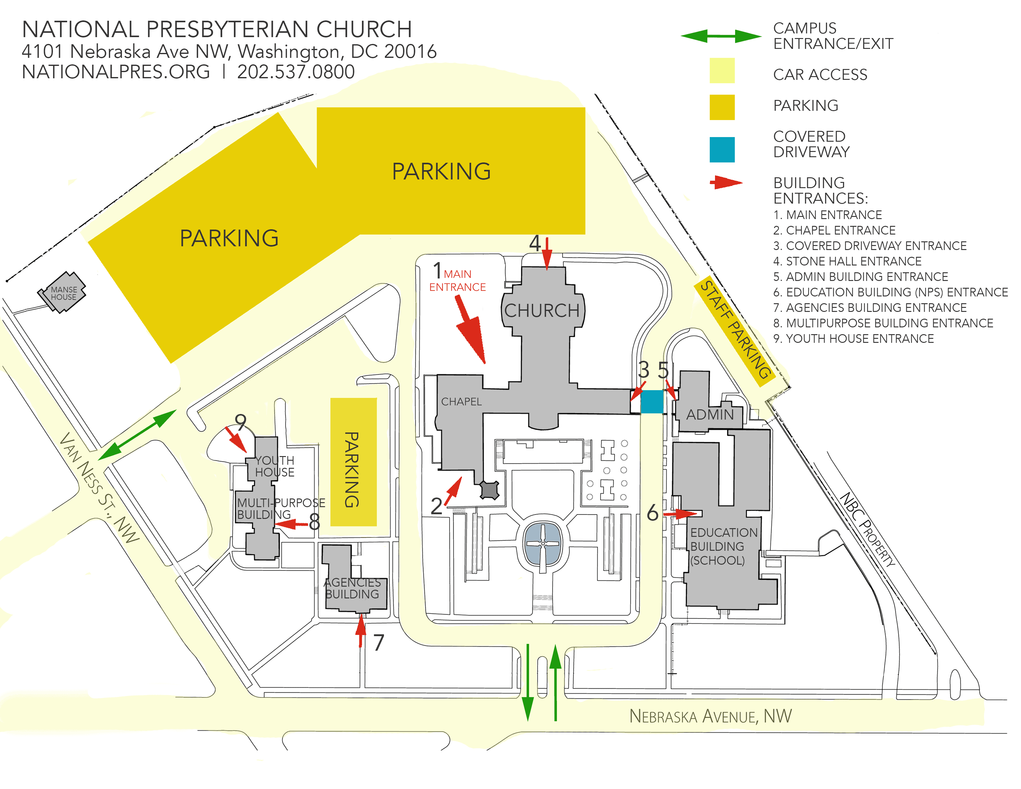 campus map for website-NUMBERED ENTRANCES